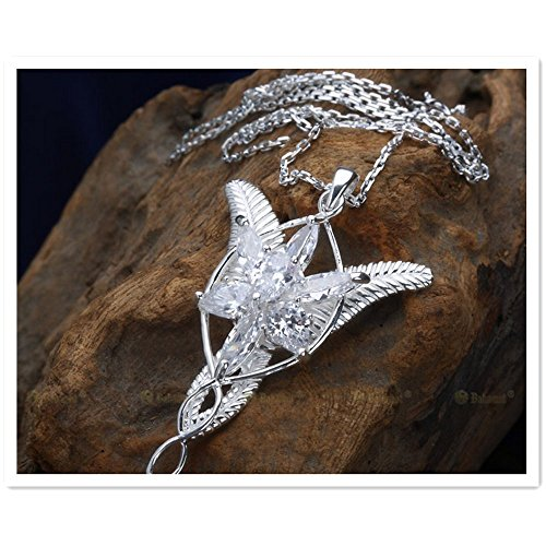 [Cos-me Lord of The Rings Hobbit Cosplay Costume Arwen Evenstar Crystal Pendant Necklace B] (Lord Of The Rings Child Arwen Costume)