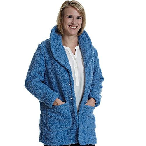 (totes Women's Berber Fleece Jacket Dusty Blue L )