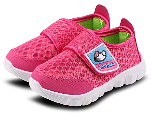 iDuoDuo Kids Mesh Baby Sneakers Super Light Weight Running Shoes Peach 1 3.5 M US Toddler by iDuoDuo (Image #2)