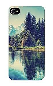 Chistmas' Gift - Cute Appearance Cover/tpu BAsdsTU3022GgVJr Landscapes Trees Lakes Case For Iphone 5/5s