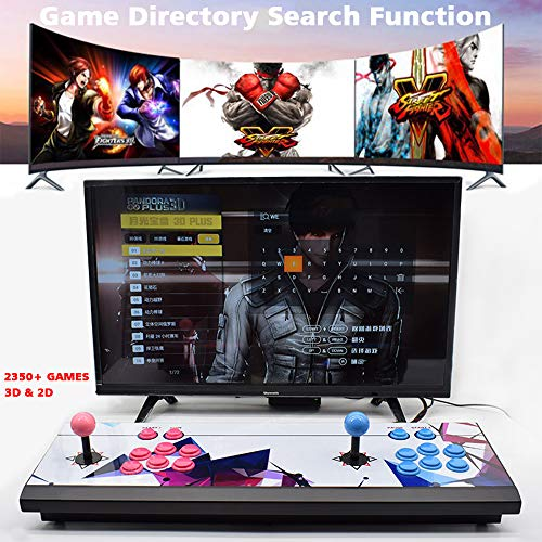 ElementDigital Arcade Game Console 1080P 3D & 2D Games 2350 in 1 Pandora's Box 2 Players Arcade Machine with Arcade Joystick Support Expand 6000+ Games by ElementDigital (Image #4)