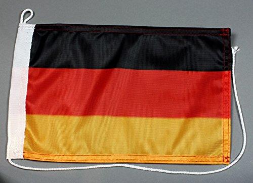 Bootsflagge Deutschland 20 x 30 cm in Profiqualität Flagge Motorradflagge