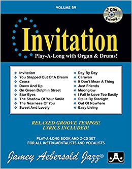 Vol 59 invitation play a long with organ drums book cd set 59 invitation play a long with organ drums book cd set jazz play a long for all instrumentalists and vocalists jamey aebersold 0417633005928 stopboris Image collections