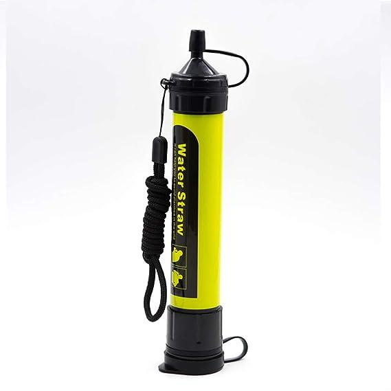ZUEN Wild Drink Portable Filtro Paja al Aire Libre Potable Herramienta Suministros Filtro de Agua Salvaje para Acampar al Aire Libre montañismo: Amazon.es: ...