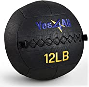 Yes4All 12 lb Wall Ball - Soft Medicine Ball/Wall Medicine Ball for Full Body Dynamic Exercises