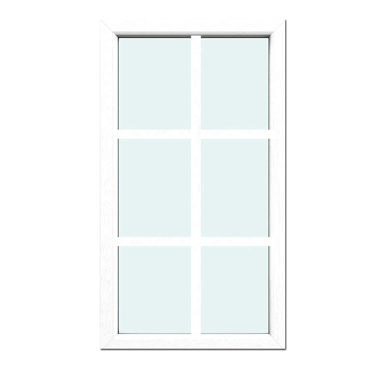BxH:1000x1300 Sprossenfenster Typ 6 Felder Wei/ß 1 flg Glas:2-Fach Festverglasung mit 26mm SZR Sprosse