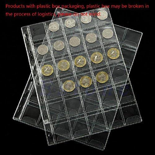 buildent (TM) 20/30/42 de plástico bolsillos colección clásica Coin Holders Hojas para el almacenamiento bolsillos álbum Coin Almacenamiento Interleaf Album páginas, 30: Amazon.com.mx: Deportes y Aire Libre