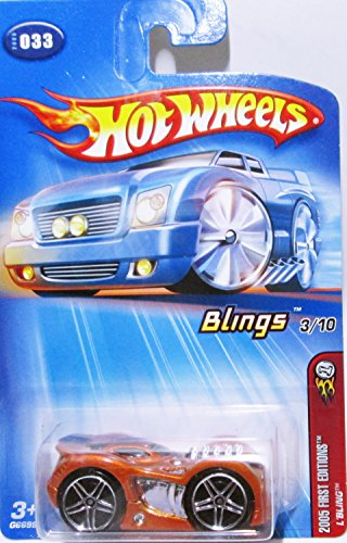 Mattel Hot Wheels 2005-033 First Editions Blings 3/10 1:64 Scale Red L'Bling Die Cast Car #033 -