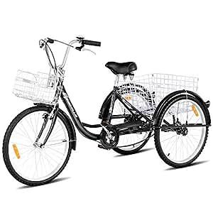 Amazon.com: Goplus Adult Tricycle Trike Cruise Bike Three ...