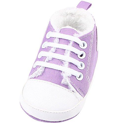 Fire Frog Baby Sport Sneakers - Zapatos primeros pasos de Lona para niño morado