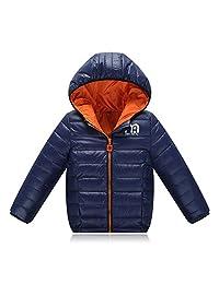 Lemonkids Children Winter Chic Hooded Lightweight Anoraks Jacket Down Coat Blue