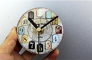 Kühlschrank Uhr Magnetisch : Amazon wanduhr d retro nostalgischen europäischen stil