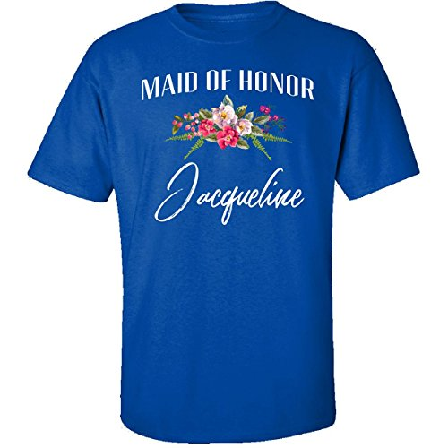 My Family Tee Maid of Honor Jacqueline Custom Name Bridal Party Gift - Adult Shirt L Royal (Jacqueline Bridal Shop)