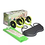 Revoflex Xtreme Multi-Functional Fitness Round Abdominal Muscle Wheel Rally Rope Automatically Rebound Home Office Abdominal Muscles