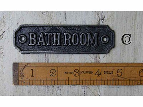 Black Country Metal Works Cast Antique Iron Bathroom Plaque