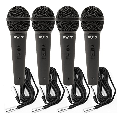 4 Peavey PV 7 ND Magnet Dynamic Microphone w/ XLR Cables by Peavey