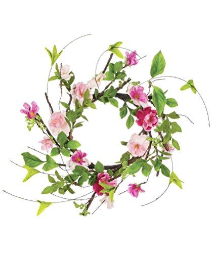 Sullivans 9'' Artificial Cherry Blossoms Wreath by Sullivans
