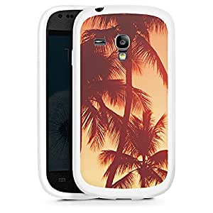 Silicona Carcasa blanco Funda para Samsung Galaxy S3 Mini - Palms