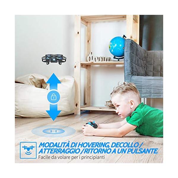 SNAPTAIN H823H Mini Drone per Bambini, Funzione Lancia&Vola, Funzione Hovering, Modalità Senza Testa, Rotazione a 360°, Decollo / Atterraggio a Un Pulsante, Velocità Regolabile 4 spesavip