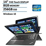 "2016 Newest Lenovo Thinkpad Yoga 2-in-1 Convertible 14"" FHD Touchscreen Laptop(Tablet), 6th Gen Intel Core i5-6200U, 8GB Ram, 256GB SSD, NVIDIA GeForce 940M, Backlit Keyboard, HDMI, Bluetooth, Win 10"