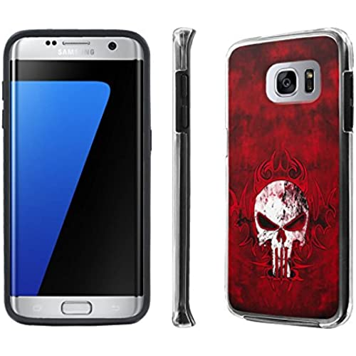 Galaxy S7 Edge / GS7 Edge Case, [NakedShield] [Black] DUO Shock Resistant Armor Case - [Tribal Punisher] for Samsung Sales