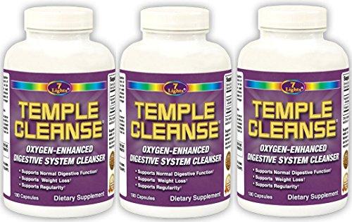 Temple Cleanse Colon Cleanse Detox 180's (3-Pack Special)