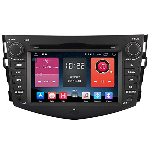 Autosion In Dash Android 6.0 Car DVD Player Sat Nav Radio Head Unit GPS Navigation Stereo for Toyota Rav4 2006 2007 2008 2009 2010 2011 2012 Support Bluetooth SD USB Radio WIFI DVR 1080P by Autosion