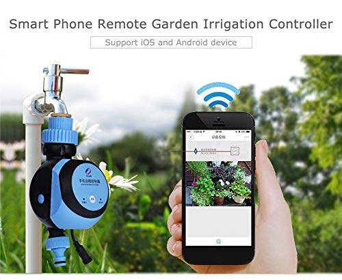 Automatic Intelligent Electronic Water Timer Smart Phone Remote Garden Irrigation Controller Watering System Solenoid Valve Hose,EU Plug