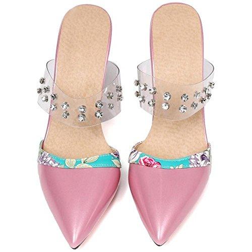 Talons Ferme Mules Purple Bout Femmes Sandales AicciAizzi A7tx0wnqXW