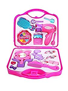 Kids Dukaan Beauty Make-up kit Set Toy kit for Girls, Pretend and Play, Role Play Gift Set (Pink)