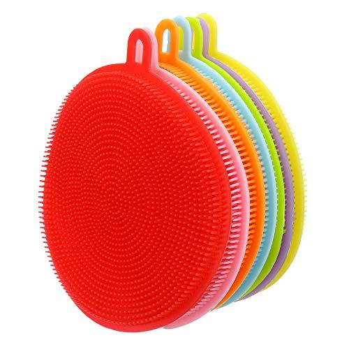 Cleaning Brush Multifunctional Kitchen Cleaning Brush Silicone Dishwashing Brush Circular Dish Washing Brush Fruit And Vegetable Cleaning Brush