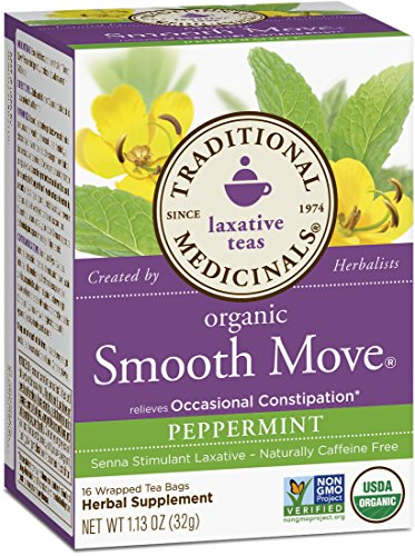 (Traditional Medicinals Organic Smooth Move Peppermint Laxative Tea, 16 Tea Bags (Pack of 1))