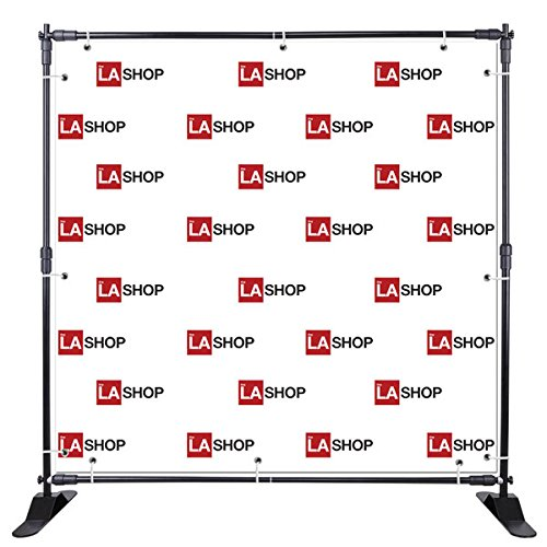 8 Ft Black Expandable Telescopic Trade Show Banner Stand