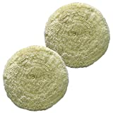 7' Polishing Wool Pads Kit 2PCS 100% Fine Wool Buffing Pads Low Linting Wool Pad, Used for Rotary and Random Orbit Sander/Polisher Buffing Equipment Buffing Pad Cleaner