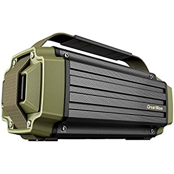 Dreamwave TREMOR Army Green/Black Aluminum Wireless 50W Rugged Outdoor Bluetooth Speaker