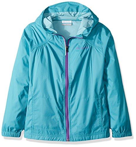 Columbia Little Girls' Switchback Rain Jacket, Pacific Rim, X-Small