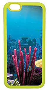 Generic Colorful Coralal Underwater World Render Nature Cell Phone Case for iPhone 6 Rubber Yellow