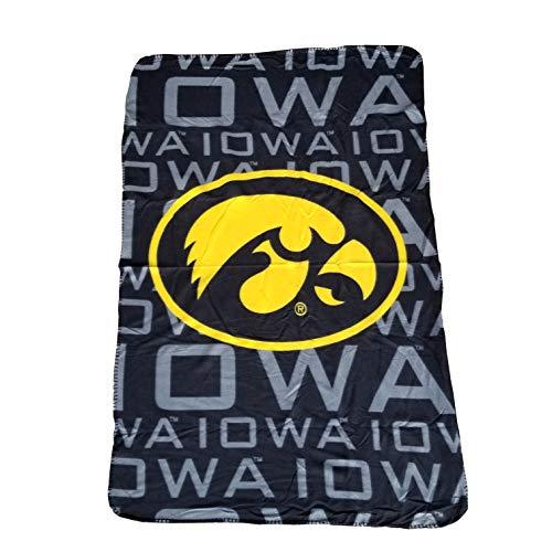 NCAA 062535 Iowa Hawkeyes Fleece Throw Blanket - 40