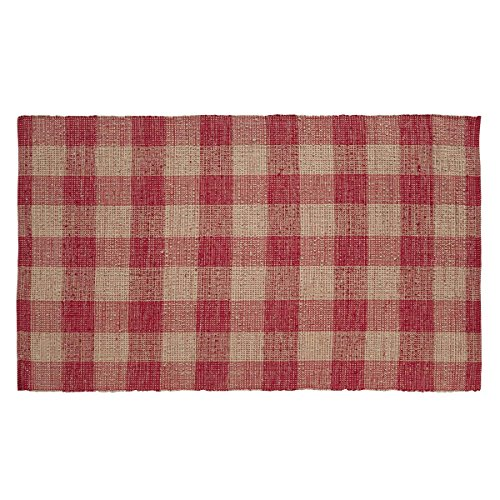 Jute Throw (VHC Brands Farmhouse Classic Country Flooring - Breckenridge Red Wool & Cotton)