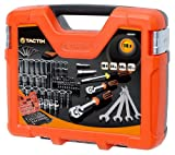 Tactix 365067 Socket Set, Black/Orange, 108-Piece