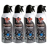 Dust-Off Disposable Compressed Gas Duster, 10 oz Cans, 2 Pack (2 pack(2-Units))