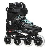 Rollerblade Twister 80 2017 Urban Twincam ILQ 7 Plus Bearings Inline Skates, Black/Light Blue, US Women's 9