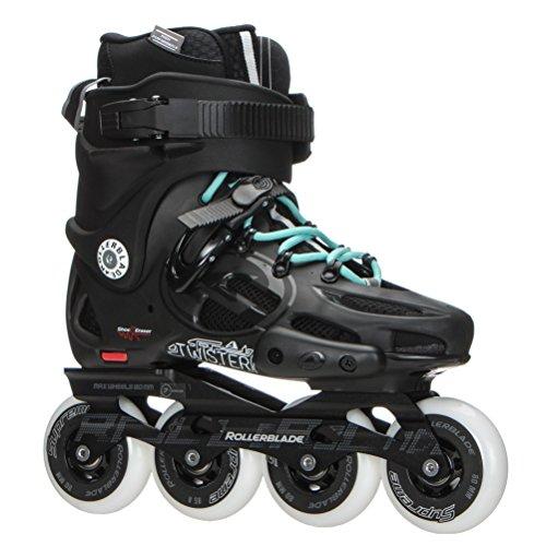 Rollerblade Twister 80 2017 Urban Twincam ILQ 7 Plus Bearings Inline Skates, Black/Light Blue, US Women's 6