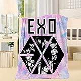 4VF2D_25RS4V Soft Boys Band_EXO Luxury Bed Blanket