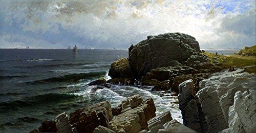 The Museum Outlet - Bricher - Castle Rock, Marblehead - Canvas Print Online Buy (24 X 32 - Store Outlet Castle Rock