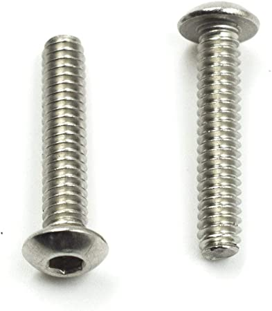 Internal Hex Drive Small Parts 5//8 Length Fully Threaded 1//4-20 UNC Threads Flat Head 5//8 Length 1//4-20 UNC Threads 18-8 Stainless Steel Socket Cap Screw Pack of 10 Vented Plain Finish Pack of 10