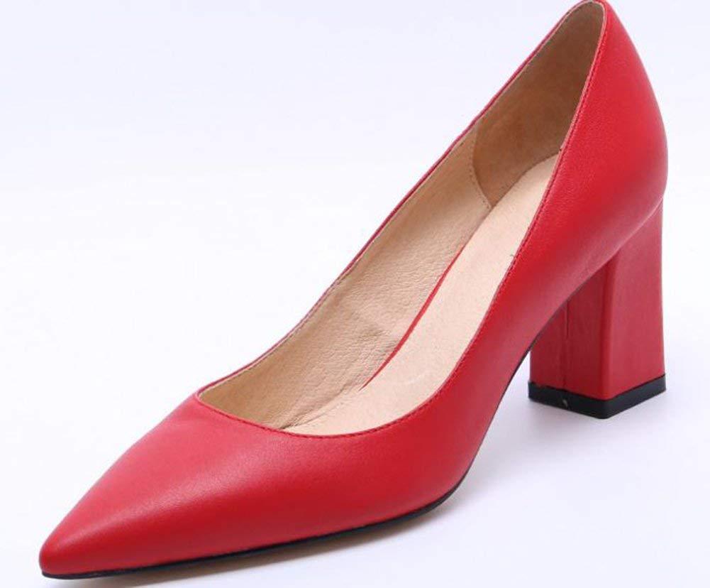 Oudan Flache Schuhe,Rot,40 (Farbe   Wie Gezeigt, Größe   Einheitsgröße)