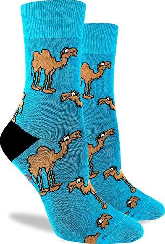 Good Luck Sock Women's Camel Crew Socks - Green, Adult Shoe Size 5-9