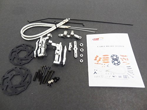 (King Motor Silver Aluminum Front Mechanical Brake Kit Fits KM HPI Baja 5B 5T 2.0 SS )