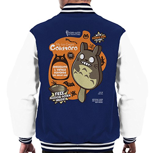 Men's Coldtoro Neighbor Totoro Navy My Jacket Icecream Varsity white wEq5AI
